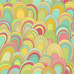 Seamless color hand-drawn pattern. Abstract texture.