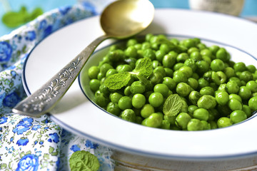 Green pea with mint.