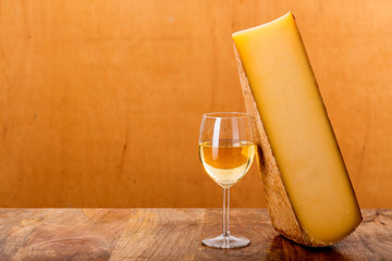 Poster Alcohol french cheese and white wine