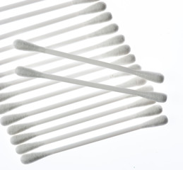 Cotton sticks isolated on the white background