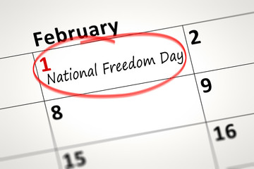 National Freedom Day first of February