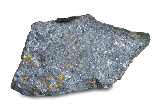 Mineral lead glance (galena) with blende, the chief ore mineral of lead. One of the most widely distributed sulfide minerals.