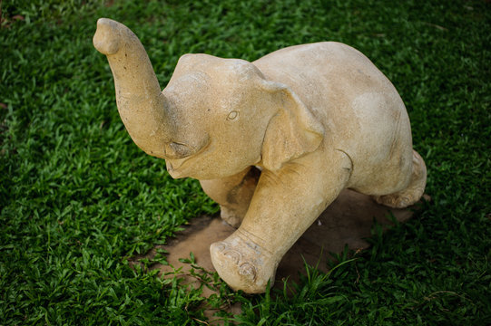 white Elephant statue in Thailand