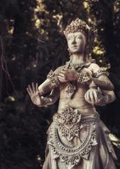 The old stone statue. Indonesia, Bali.