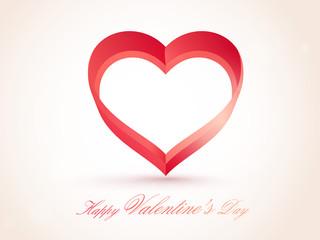Heart for Valentine's Day celebration.