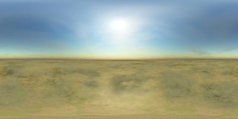 HDRI High resolution map, sun over the desert