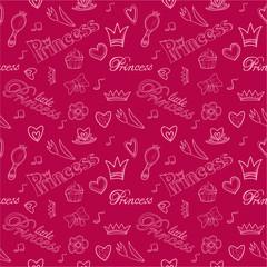 Princess seamless pattern.