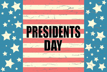 Presidents Day on American Background