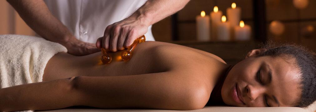 Massage in luxurious spa