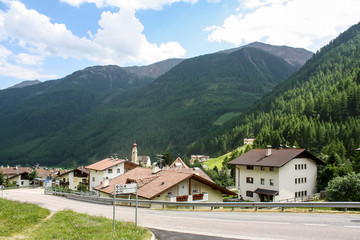 Beautiful mountainous village in Alps