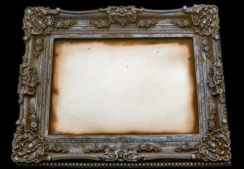 Decorative Art frame on black background