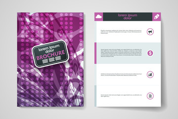 Set of brochure, poster design templates in abstract background style