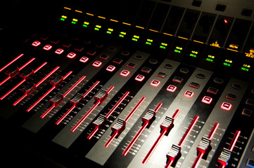 Sound control with LED backlight
