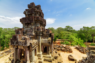 Wall Mural - Top view of ancient prang at Ta Keo temple. Angkor, Cambodia