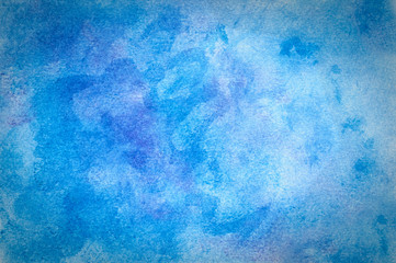 Blue chalk pastel background. Original art. Naturally grainy blending with vignetting.