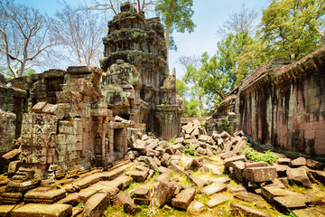Wall Mural - Ruins of Preah Khan temple in ancient Angkor Wat, Cambodia