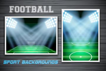 Set Backgrounds of football stadium