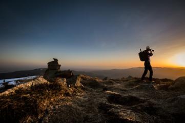 Photographe et trekking