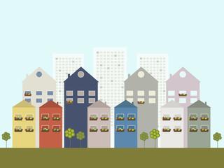 Modern Green City Concept
