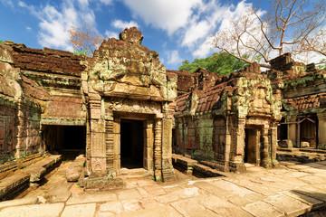 Fototapete - Ancient buildings of Preah Khan temple in Angkor, Cambodia