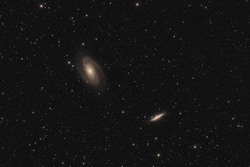 The M81 group (galaxy M81, M82) in constellation Ursa Major