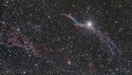 Veil Nebula (NGC 6960) in Swan Constellation