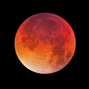 Bloody moon, full moon