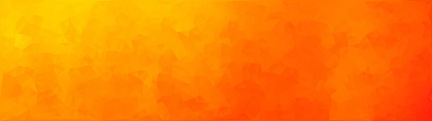 vector illustration - orange abstract mosaic triangle banner