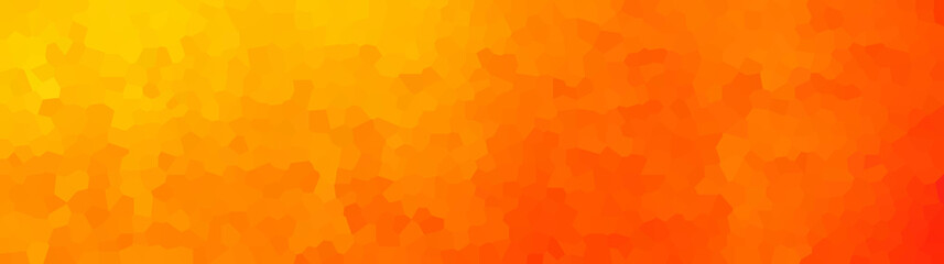vector illustration - polygon abstract mosaic orange banner
