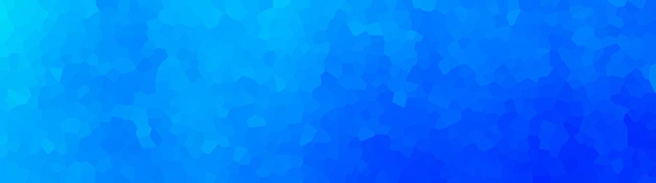 vector illustration - polygon abstract mosaic blue banner