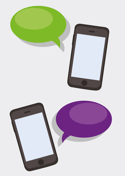 Smartphones with dialog boxes