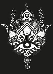 Queen eye vector background