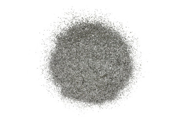a handful of powder, graphite on white background