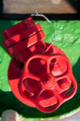 Red water valve