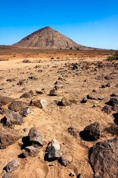 Volcano crater on Sal Island, Cape Verde