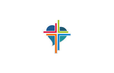love cross colorful logo