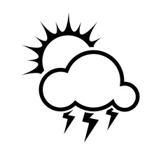 sun,rain,wind, cloud, snow, moon, lightning, storm, weather flat
