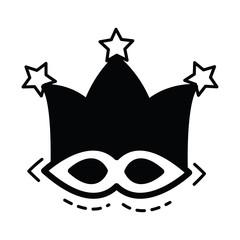 joker mask icon  black color