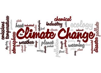 Climate change, word cloud concept 9