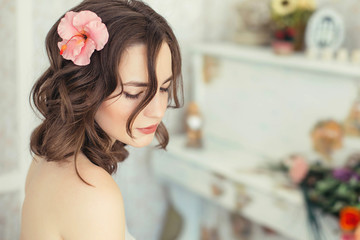 portrait of beautiful girl bride
