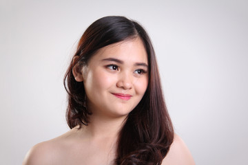 Asian girl natural beauty closeup portrait