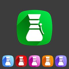 Coffeemaker icon flat web sign symbol logo label