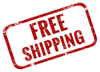 Free shipping stamp red