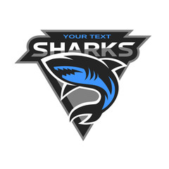 Sharks logo for a sport team.