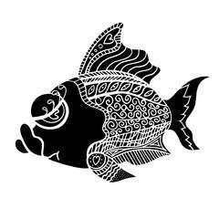 Zentangle stylized Fish