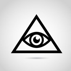 Iluminati vector icon.