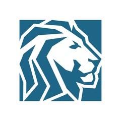 lion rectangular abstract