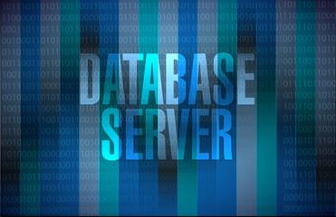 database server binary background sign
