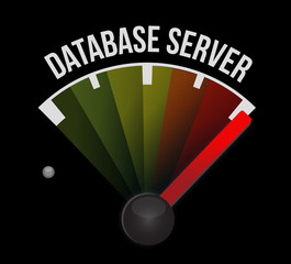database server meter sign illustration design