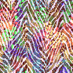 colorful zebra texture on spots ~ seamless background